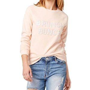 NWT Bow & Drape Brunch Bunch Peach Sweatshirt S